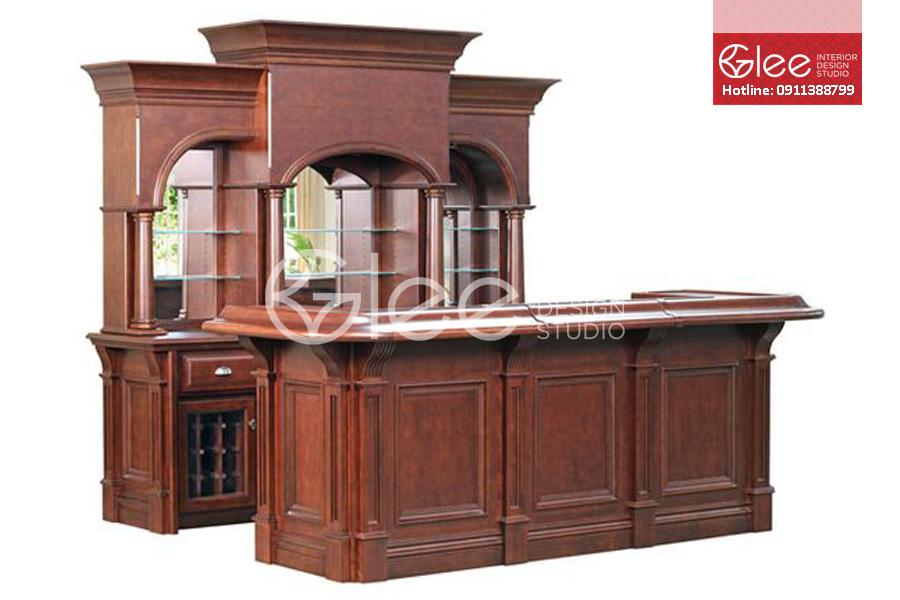 Tủ rượu cổ điển đẹp GTR16